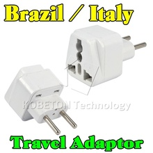 2015 New Portable Wall Charger EU AU US UK to Brazil Italy Universal 2 Pin Home Household Travel Adapter AC Power Plug Converter