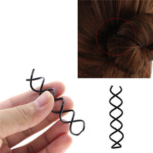 5pcs Spiral Spin Screw Bobby Pin Hair Clip Twist Barrette Black New Hairpins Hair Accessories(China)