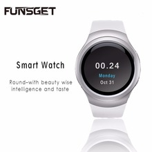 Funsget Smart Watch Bluetooth Wrist watch Mobile Phone Touch Screen English Russian Spanish language for iphone Android Device