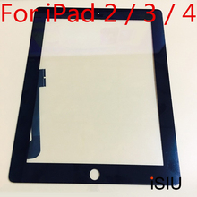 iSIU Touch Screen For iPad 2 / For iPad 3 / For iPad 4 Tab Touch Glass Digitizer Phone Touch Repair NO LCD DISPLAY Black White(China)