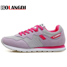 Bolangdi New Trend Women's Running Shoes Breathable Mesh Shoes Women Comfortable Sports Shoes Summer Athletic Outdoor Sneakers