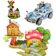 3D Puzzle DIY Military Architecture Castle Model Kids Toy EVA Paper Brinquedo Educativo Houses Gift Toys for Baby Children(China)