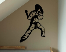 Japan Judo Fighters Wall Stickers Home Decor Living Room Fight Girl Sport Wall Decal Removable Vinyl Wall Tattoo Mural A580(China)