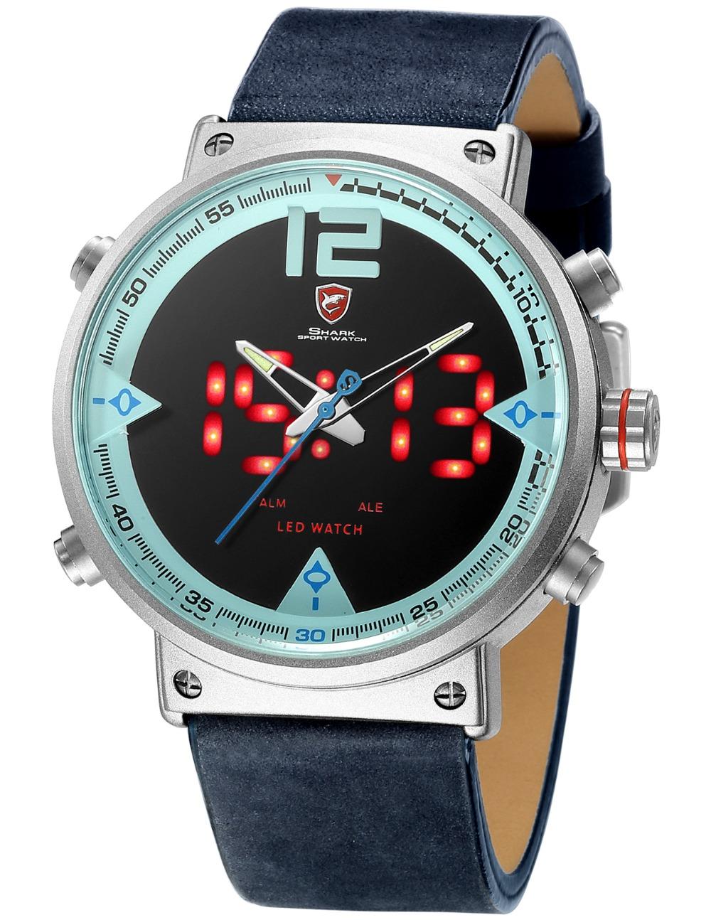 HTB1840DdnnI8KJjSszbq6z4KFXaM - Bluegray Carpet Shark Sport Watch - Blue SH547