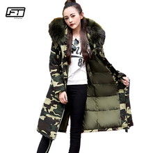Fitaylor 2017 Winter Fur Collar Hooded Parkas Mujer Medium Long Jacket Women Slim Thick Cotton Padded Coat Parka For Girls Kids(China)