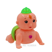 yuanmbm Electric climb baby/twist ass cry laugh light/baby toys for children dolls Baby Kids Educational toys kids Gifts