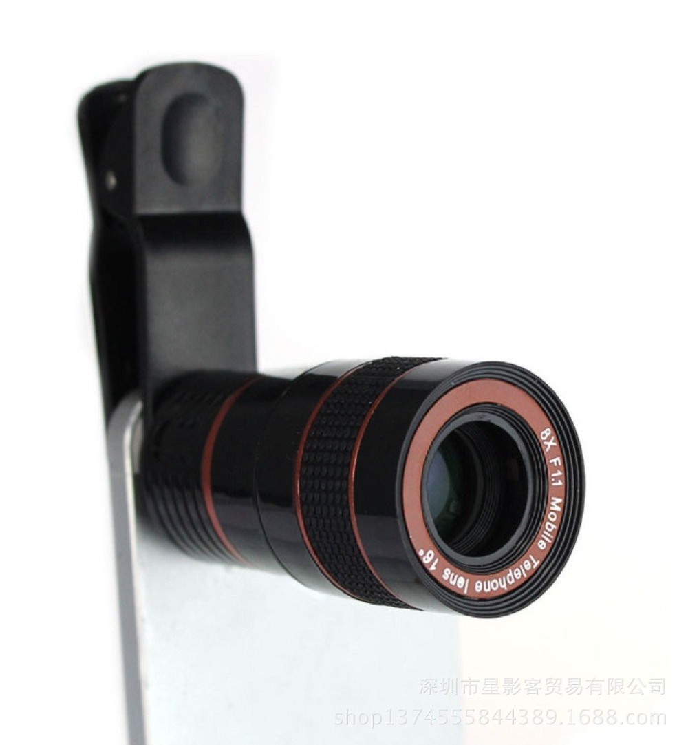 New Arrival 1PC Universal 8X Zoom HD Optical Telephoto font b Lens b font Telescope for