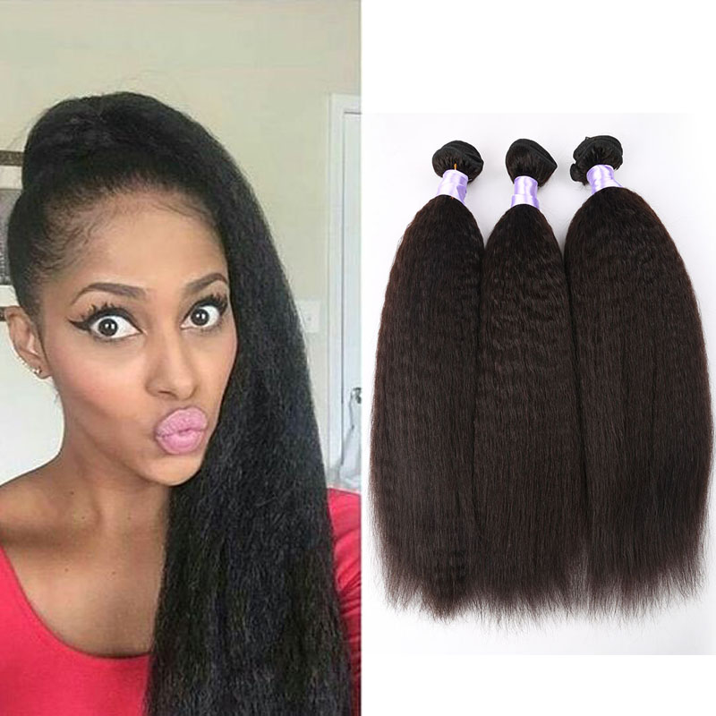 7A Mongolian Kinky Straight Weave Human Hair Extensions 3pcs/lotVirgin Mongolian Pure Coarse Yaki In Stocks<br><br>Aliexpress