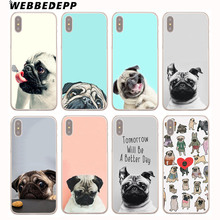 Buy WEBBEDEPP Pug seen things dog Ride butterfly Art Hard Cover Case iPhone 8 7 6S Plus X/10 5 5S SE 5C 4 4S for $1.49 in AliExpress store