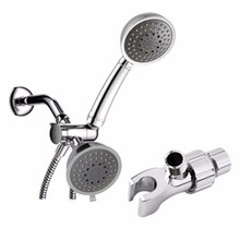 Universal Shower Head Holder Arm Mounted Adjustable Screwed On Bracket Double Holder Bathroom Faucet Accessories