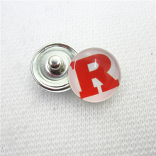 10pcs NCAA Rutgers Scarlet Knights Snap buttons 18mm Sports snap buttons Diy Snaps Jewelry Bracelet&bangles charms(China)