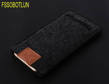 FSSOBOTLUN Business Style Handmade Wool Felt Wallet Bag Pouch For iPhone 8 Mobile Phone Sleeve Case For iPhone 7 6 6S 4.7 inch(China)