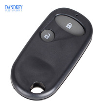 Dandkey Replacement Remote Key Fob Case Shell 2 Buttons For Honda Civic C-RV Accord Jazz New