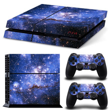 Buy Galaxy Star Vinyl Skin Sticker Cover Sony PS4 Console 2 Controllers Decal Playstation 4 Dualshock 4 Gamepad for $5.24 in AliExpress store