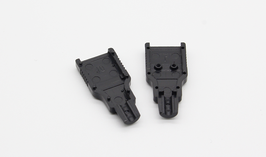 IMC hot New 10pcs Type A Male USB 4 Pin Plug Socket Connector With Black Plastic Cover
