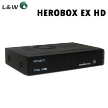 5pcs BCM7358 Satellite tv receiver HEROBOX EX HD decoder DVB S2 / S,support CCCAM and IPTV,And it is free shipping to you