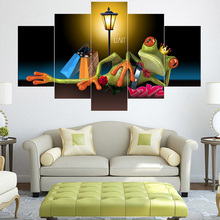 5 with interesting cartoon image oil painting walls decorated living room home decoration art poster printing photos