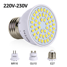 LED Bulb E27 GU10 MR16 LED Lamp SMD 2835 220V 230V Spotlight 48 60 80LEDs White Warm White LED Lighting for Living Room Decor