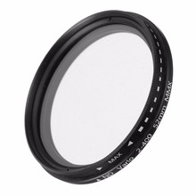 ND Filter Fader Neutral Density Adjustable ND2 to ND400 Variable Filter 52mm 58mm 62mm 67mm 77mm for Nikon for Canon Camera SLR