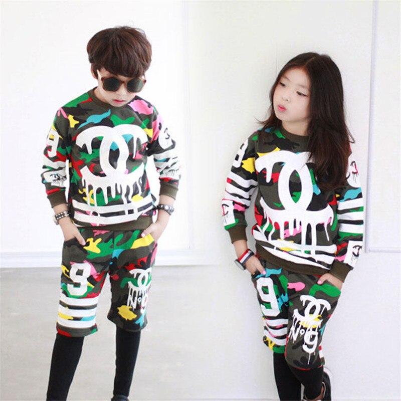 Boys clothing set long sleeve boy sports suits letter kids clothes suit cotton boy tracksuit teenage children Hip-hop clothing<br><br>Aliexpress