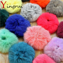 New Girl Hair Accessories Rabbit Elastic Hair Bands Fur Soft Hair Gum Hair Rope Rubber Headwear High Quanlity(China)