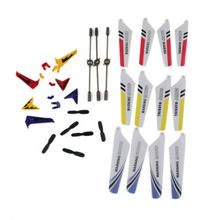 High Quality Colorful Repaire Part Spare Parts Main Blade/Balance Bars/Tail Decoration/Tail Blade for Syma S107G RC Helicopter