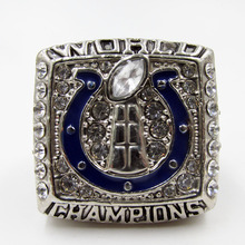 High Quality Super Bowl 2006 Indianapolis Colts Super Bowl Zinc Alloy silver Championship Ring.Sports Jewelry(China)