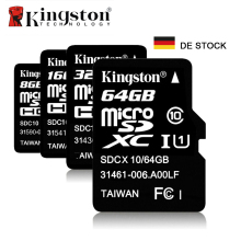 Kingston Micro SD TF Card 8GB 16GB 32GB 64GB Class 10 Memory Card SD TF Flash Microsd Card Cartao de Memoria DE Stock