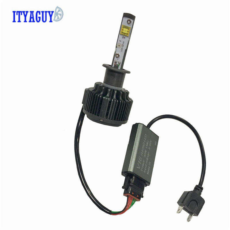 Car LED Headlight Bulb Fog Light 72W 12V 6000K 7600LM V16 H1 H3 H7 9005 9006 H11 H8 H4 H13 9004 9007 STYLING<br>