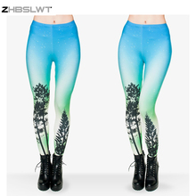 ZHBSLWT Hot 2017 Sale New Arrival 3D Printed Fashion Women Leggings Space Galaxy Leggins(China)