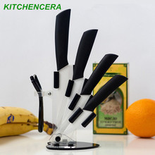 "High quality kitchen knife ceramic knife set 3"" 4"" 5"" 6"" inch with peeler Zirconia Chef Kitchen tools"