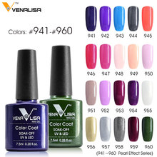 61508#Venalisa 7.5ml Gel varnish 60 Colors Soak Off UV LED Canni Nail Art Design Nail Gel Polish(China)