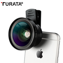 Buy TURATA HD Phone Len 2 1 Kit Fisheye Lens Super 0.45X Wide Angle+15X Macro Clip-on Fish Eye Smartphone Mobile Phone for $11.87 in AliExpress store