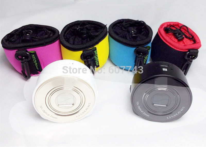1pcs Neoprene Soft Case Protective Bag Pouch for Sony DSC-QX100 Camera Lens Yellow