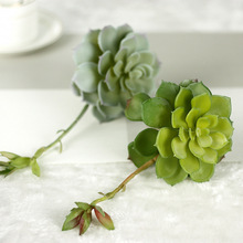 Artificial Lotus Flower Succulent Grass Desert Plant Arrangement Micro-landscape Decor(China)