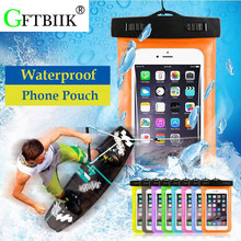 In 5.7 inch IPX8 Waterproof Bag,Universal TPU Dry Pouch,Best Water Proof, Dustproof, Snow Proof For IPhone 7 Plus Phone Case(China)