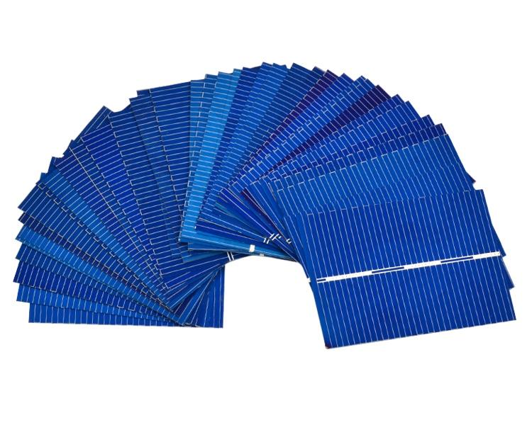 Aoshike 100Pcs 0.5V 0.35W Solar Panel Solar Cell Color Crystal Module Sun Power Bank 39x52MM DIY Solar Battery Charger 7