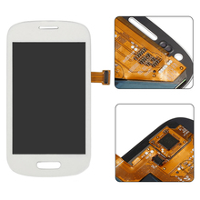 White blue LCD display Touch Screen Digitizer full Assembly replacement part For Samsung galaxy S3 Mini i8190