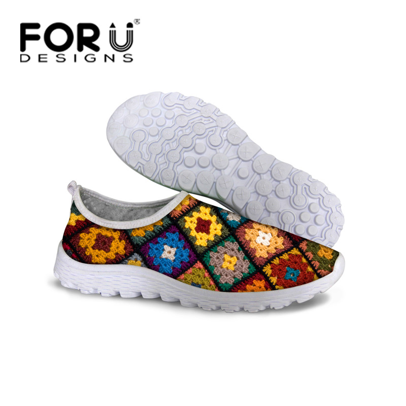 Designer Spring Autumn Style Women Shoes Trendy Wool Flower Printed Breathable Casual Shoes Ladies Girls Mesh Zapatillas Mujer<br><br>Aliexpress