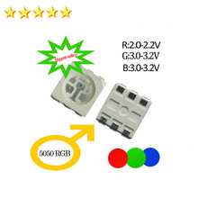 Factory Outlets Free Shipping 5050 RGB smd led specification price $2.99 Per 100pcs(China)