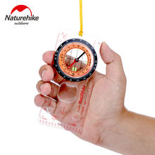 Naturehike Outdoor Camping Directional Cross-country Race Hiking Special Compass Baseplate Ruler Map Scale Compass bussola(China)
