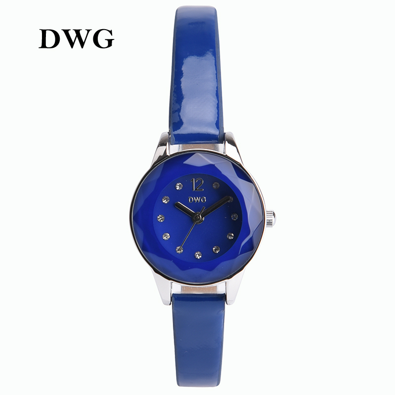 Fashion DWG Brand Womens Watch Lady PU Leather Analog Quartz Wrist Watches Blue Pink Red Dress Wristwatch for Women<br><br>Aliexpress