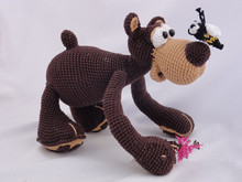 Amigurumi Crochet Bear baby toy rattle(China)