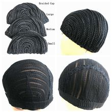 ( 2 Pieces/lot ) FREE Shipping Cornrow Braided Wig Cap For Weave Crotchet Braiding Wigs- Large, Medium and Small Size