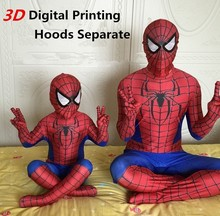3D Printing Spiderman Costume Superman Suit Kids Lycra Spider-man Child And Adult Spider Man Halloween Cosplay Costumes