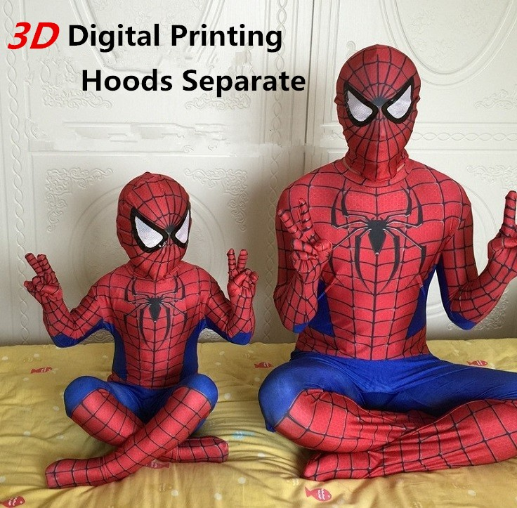 3D Printing Spiderman Costume Superman Suit Kids Lycra Spider-man Child And Adult Spider Man Halloween Cosplay Costumes(China (Mainland))