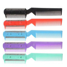 2017 DIY Hair Razor Comb Hairdressing Thinning Trimmer Punk Home Professional Trim  random color hair care