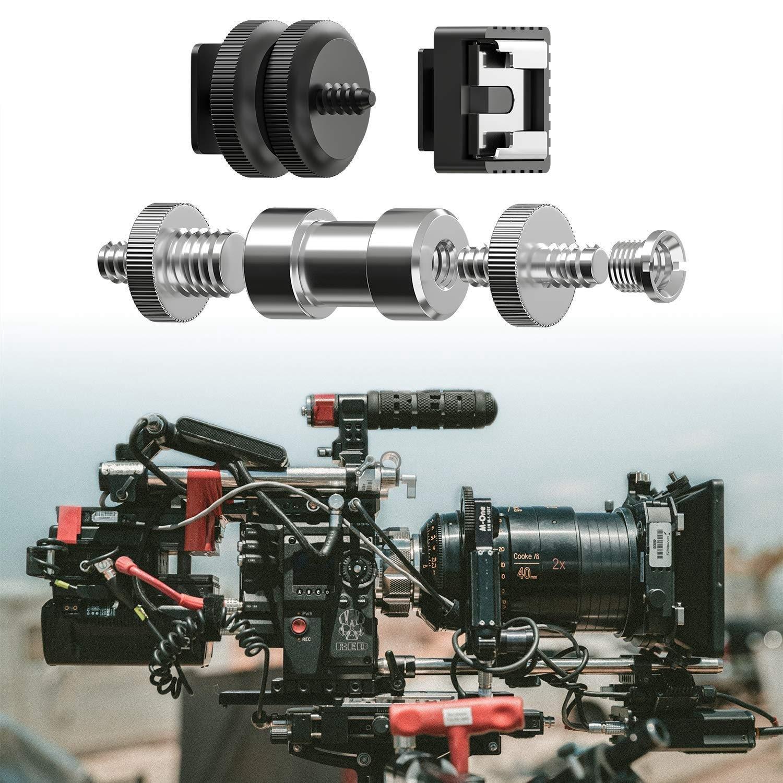 21 Pcs 1//4 Inch 3//8 Inch Converter Threaded Screws 1//4inch Hot Shoe Adapter Mount Camera Ball Head Set Came Camera Mounts Clamps Color : Black XIANYUNDIAN Camera Screw