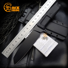 BIGONG  rixed blade Knife  7cr13 cold steel  rubber  Handle Extrema ratio Survival  Camping  Preferred Tool