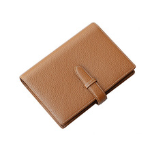 Advanced Genuine A6 Leather Business Notebook Stationery Leader Planner Brown Diary Binder Strap Loose leaf Gift(China)